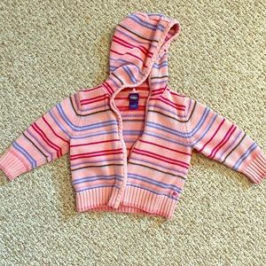 Other - Pink and striped hooded jacket